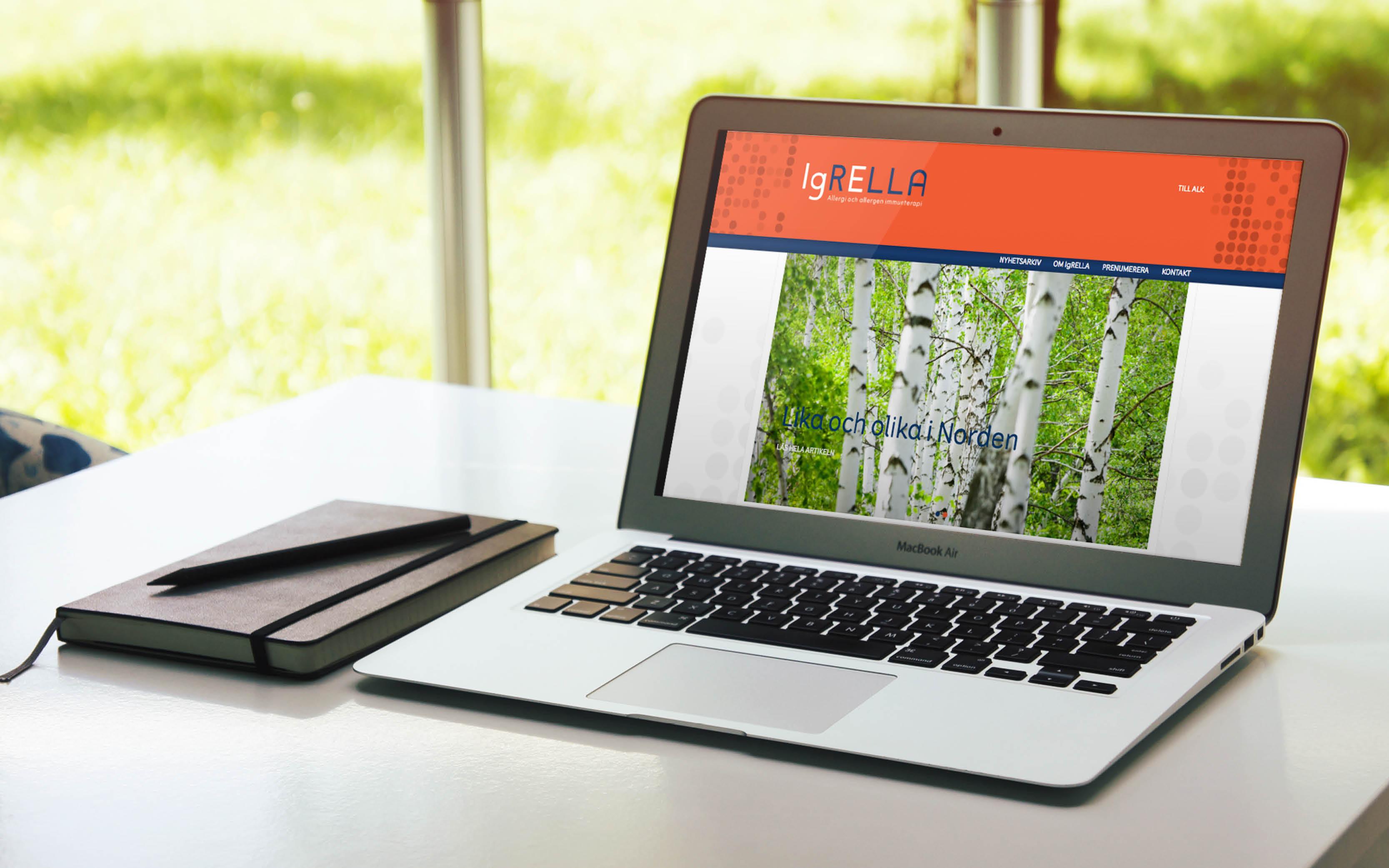 Varumärkeskoncept Igrella hemsida
